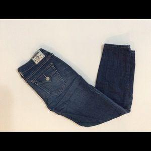True Religion Brand - straight leg dark wash jeans